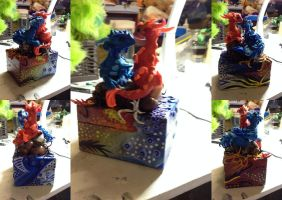 Akvo and Farjo - Red and Blue Box Dragons - SOLD by SonsationalCreations