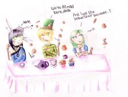 AND THEN THEY ALL HAD CAKE by Noctomaniac