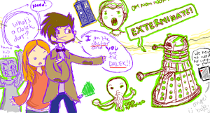 Doctor Who iScribble by Gwnne