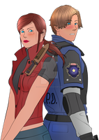 Biohazard 2 Leon and Claire by Matt-Addison