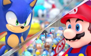mario and sonic at the london olympics by BlazetheCat1445