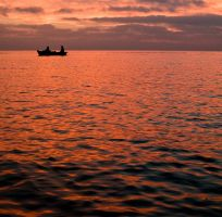 boat tirp to the sunset by macgl