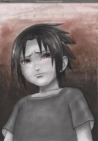 little sasuke crying by narufag