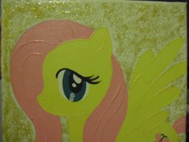 Finished Fluttershy Canvas Painting by SailorUsagiChan