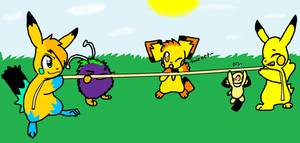Tug-O-War by sparkythepichu