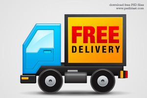 Free Delivery Icon (PSD) by psdblast