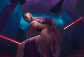 Sith woman with sabers by SimonARPalmer