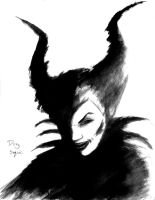 Maleficent brush and paint by DougSQ