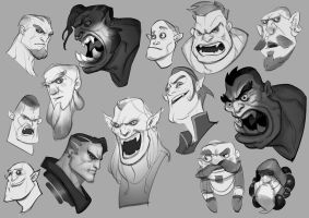 Head sketches by cloudintrousers