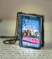 Alice's Adventures in Wonderland Book Necklace by NeverlandJewelry