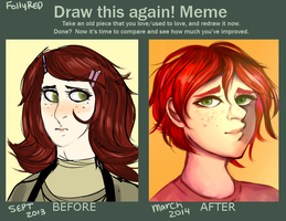 draw again meme by FollyRed