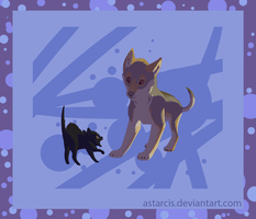 Ill-mannered dog by Astarcis