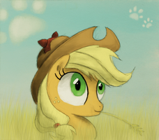 Who's a silly cat? Applejack! by Hewison