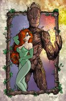 Poison Ivy and Groot by ChrisMcJunkin