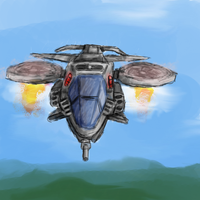 """Hummingbird"" Attack Craft by XxSoulHunterxX"
