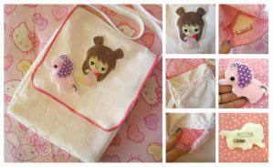 COMMISH: Bun-Bun Shoulder Bag and Pinky Pin by ChibiWorks