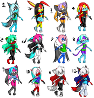 sonic charrie adoptables 2 by Xx-Ravenwing-xX