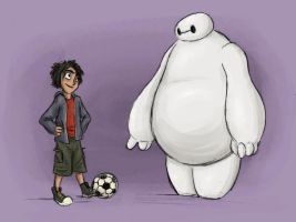 Baymax and Hiro by AriellaMay