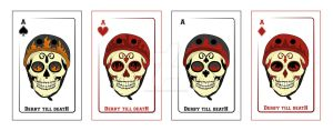 Roller derby card designs - Aces by DesignKReations