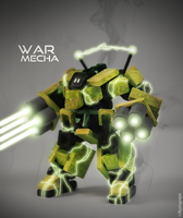War Mecha # Yellow jungle by Romantar
