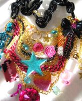 Junky jewels necklace by pinkminx