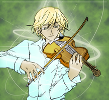 Fai playing the violin by FaithDivine