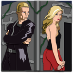 Shadowbox Mock-up:  Spike and Buffy by The-Paper-Pony
