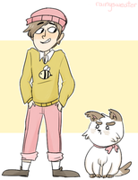 B and Kittydog! by northpines