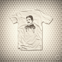 Nikola Tesla - T-Shirt by mrsbadbugs