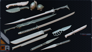 Weapons : Blades n Nades by WARxSnake