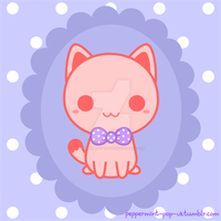 Kitty With Bow by peppermint-pop-uk