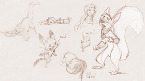 Sketch Dump 001 by fnook