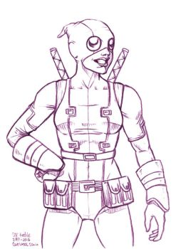 Daily Sketches Gwenpool by fedde