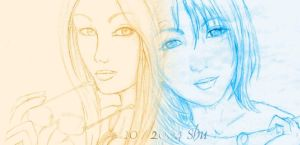 Quistis and Rinoa mix by Shu-Maat