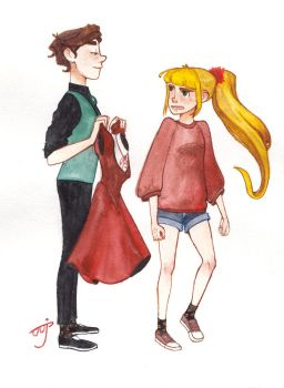 Reverse Dipper and Pacifica #1: The Dress. by jim-vikson
