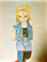 Android 18 by lovelykilljoy94