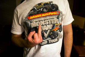 monster jam tee by FigoTheCat