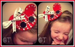 Minnie Mouse Inspired Tiny Hat by gertygetsgangster