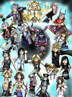 Dissidia Duodecim Final Fantasy Poster by WhiteMageOfTermina