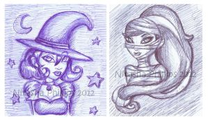 Witch and Mummy Beauties by Tanis711