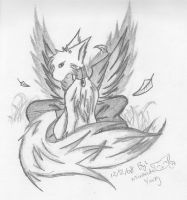 winged wolf by inukagome123