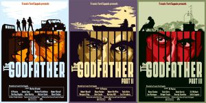 The Godfather Poster series by skyloreang