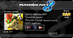Mario Kart 8 License! =D by DigiBowser