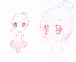 Ballerina OC - Sketch by Chanoodle