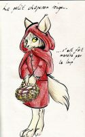 Red riding wolf by Cervelet
