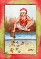Fishing for Christmas Fish by erinclaireb