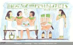 Egyptian family by jenniology