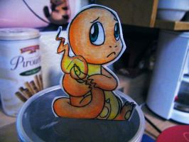 Paper Charmander by pettyartist