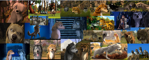 Alpha and Omega screenshot collage by Sonic2125