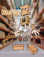 Origami Man by Cartoonray